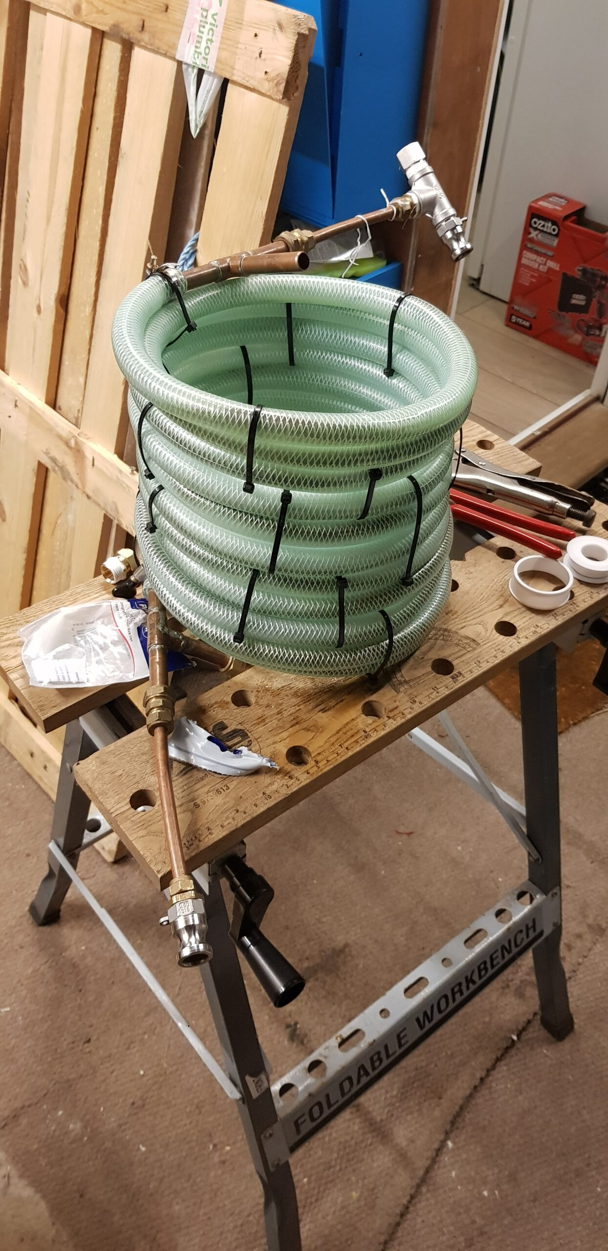 Homemade Counterflow Wort Chiller