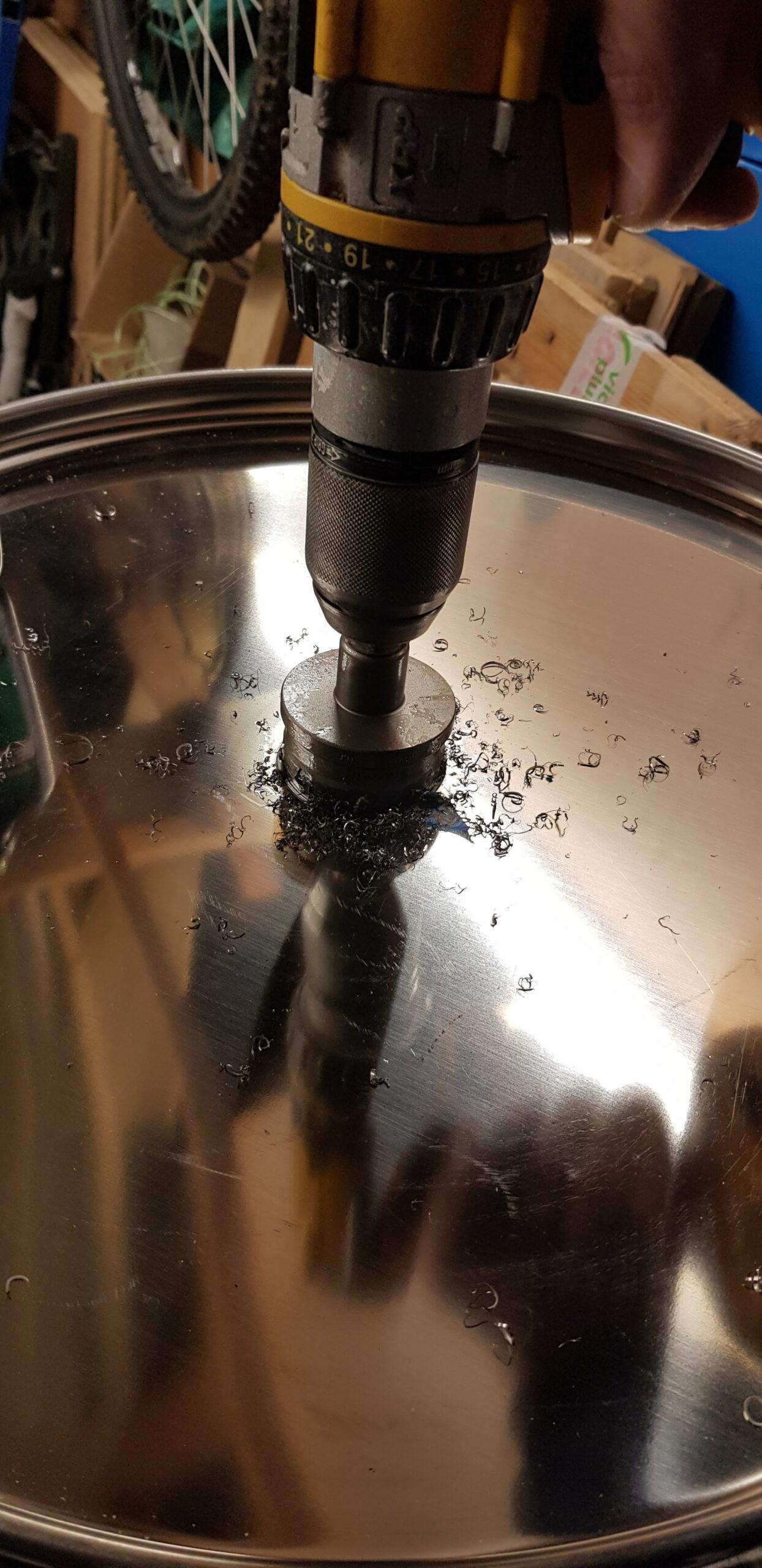 50mm Hole Saw Cutting
